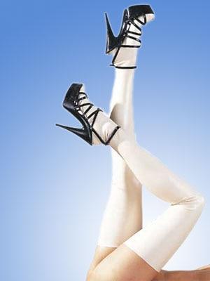 Hot sale pure color handmade women female Latex Catsuit Tight Sexy Socks Fetish Long slim lean Stockings
