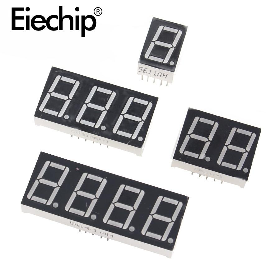 10 шт., 0,28 дюйма, цифровой трубчатый светодиодный дисплей, 1 бит, 2 бит, 3 Бит, 4 бит, дисплей, общий анод/катод, 0,28 дюйма, 7-сегментный дисплей для ...