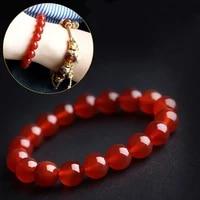 real carnelian bracelet 8 14mm red gemstone jewelry men and women good luck gift