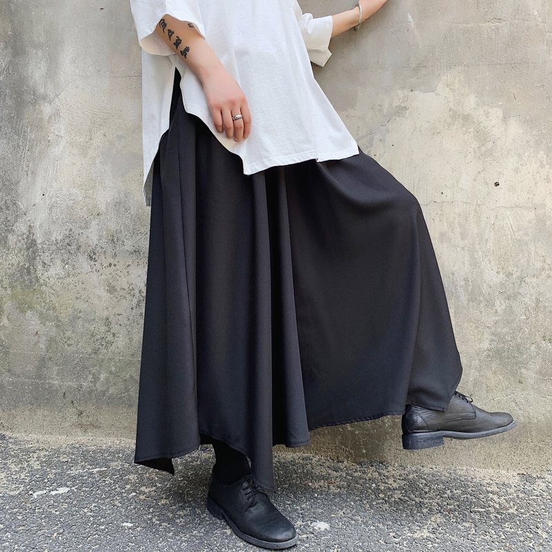 Yamamoto, Hairdresser, Men's and Women's Rules, Summer, Wide Legs, Culottes, Pants, Loose Fitting, Young Men, Dark Style, No Des