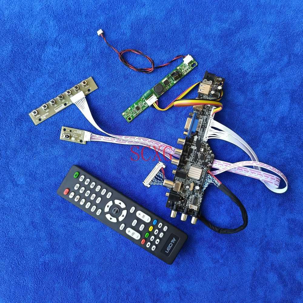 إشارة الرقمية 30-دبوس LVDS AV VGA USB HDMI-متوافق صالح M215HAN01.0/M215HAN01.1 عرض محرك مجلس DIY كيت 1920*1080 LED LCD