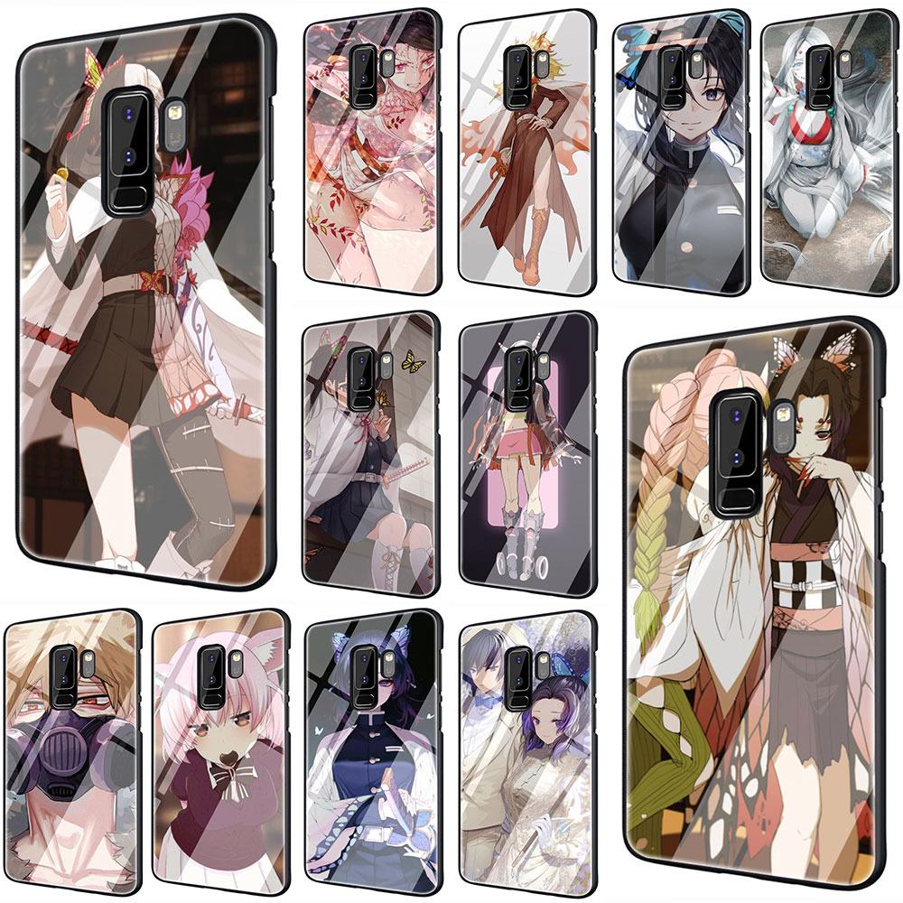 Demon ostrze szkło hartowane telefon pokrywy skrzynka dla Samsung S7 krawędzi S8 uwaga 8 9 10 Plus A10 20 30 40 50 60 70