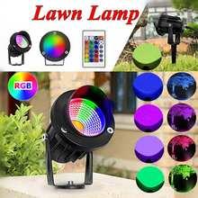 Светодиодный прожектор для сада, водонепроницаемый, 10 Вт, RGB, COB, для улицы, газона, патио