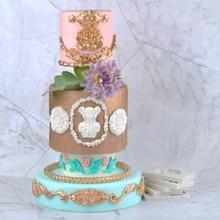 Vintage modèle européen moule Fondant gâteaux décor outils Silicone moule sugarcraft chocolat outils de cuisson pour gâteaux forme de Gumpaste