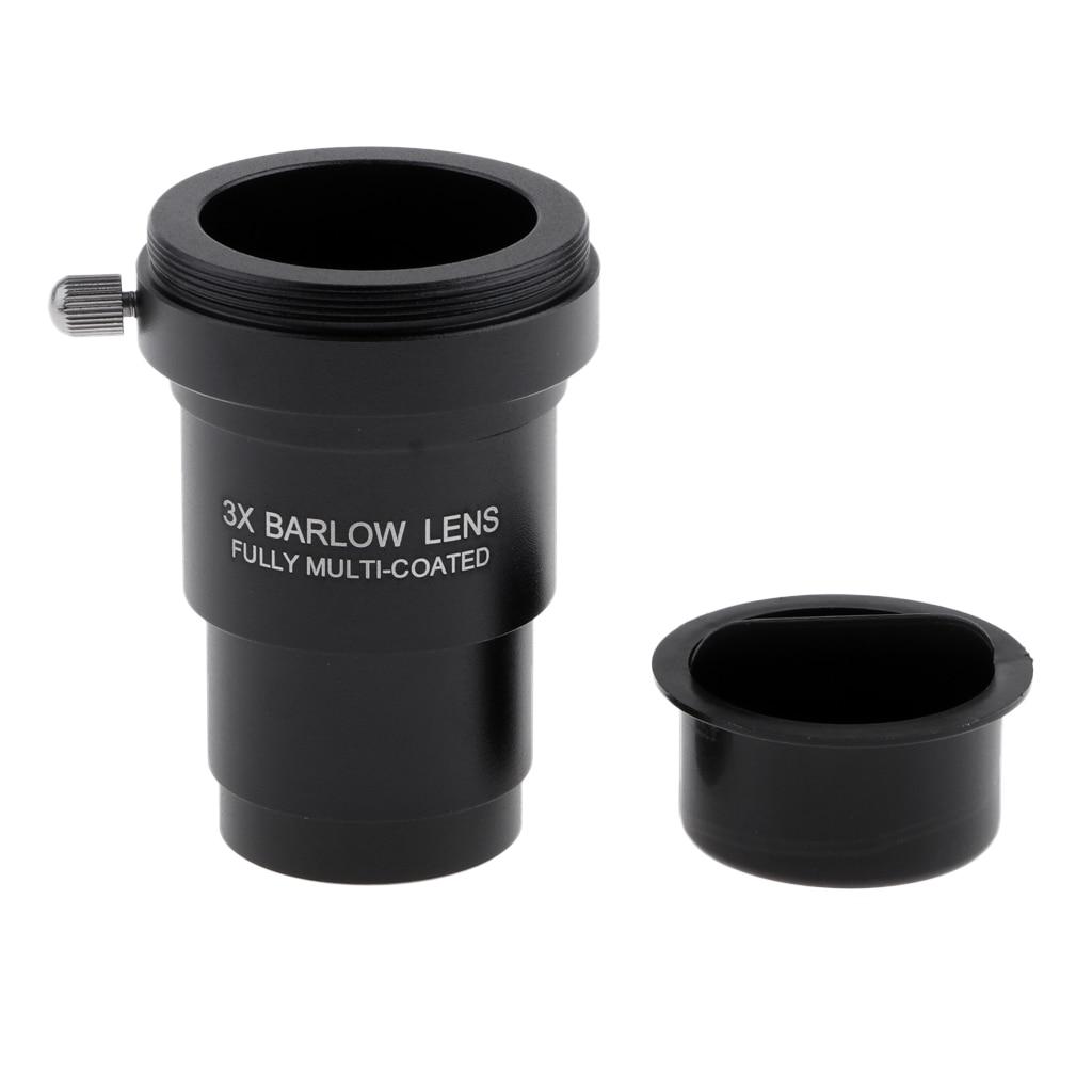 Telescópio ocular barlow lente 3x ampliação 1.25 Polegada t universal anel adaptador para canon steiner yukon