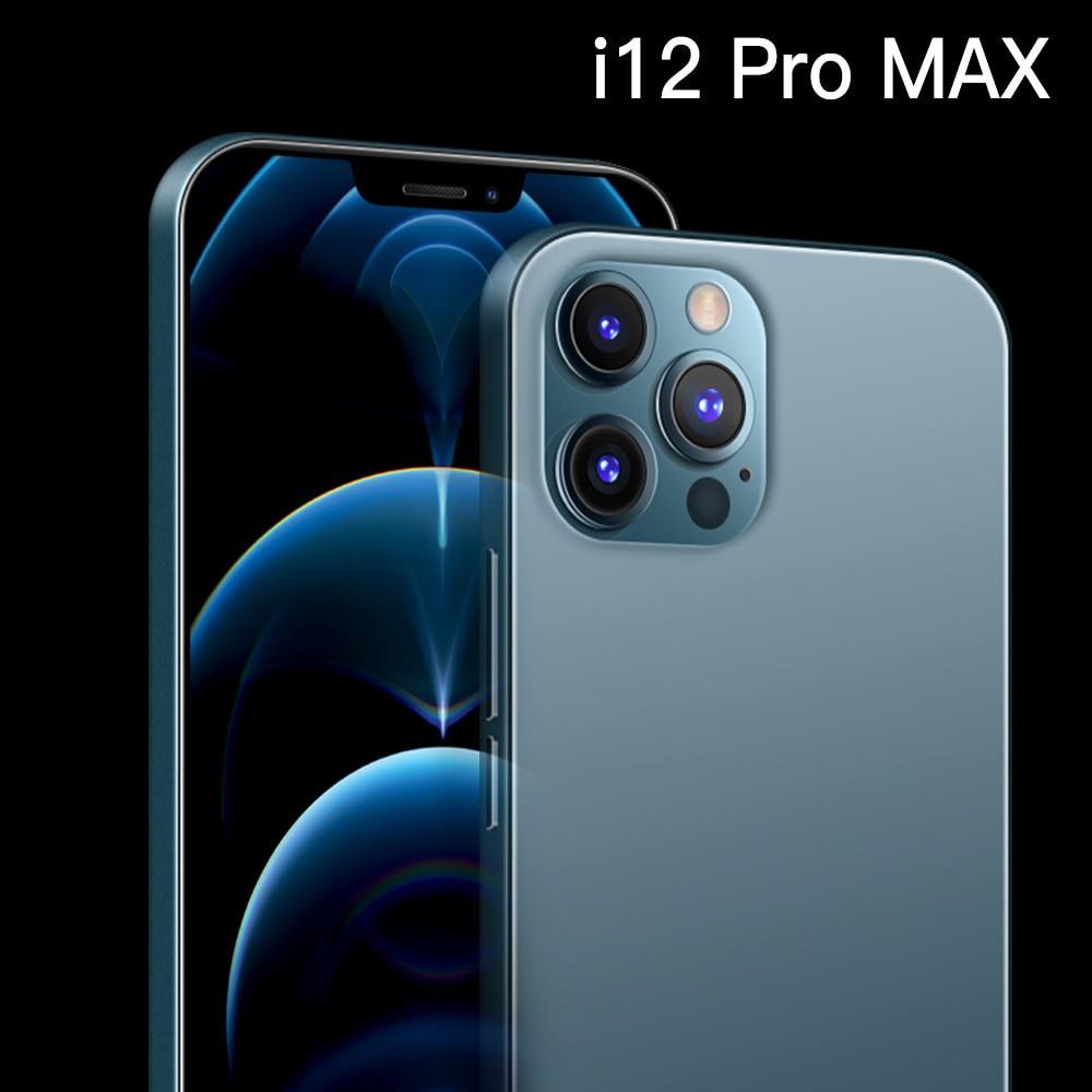 I12 Pro Max Rear Triple Camera 48MP Selfie Snapdragon 865 Smartphone 12GB+512GB 6.7Inch 5000mAh Android 10.0 Deca Core 4G 5G LTE