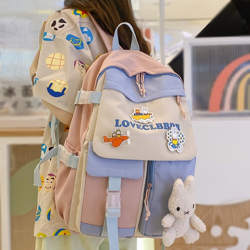 Fashion Harajuku Ladies School Bag Kawaii College Student Girl Backpack Cute Book Women Bags Female