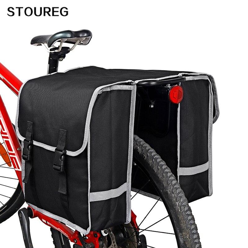Saco de assento traseiro da bicicleta, mtb bicicleta bagagem dupla pannier transportadora saco no tronco, caso ciclismo selim saco para acessórios da bicicleta