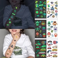 temporary tattoos for boys girls children small face colored baby luminous alien sun earth planet tatoo kids arm face fake tatto