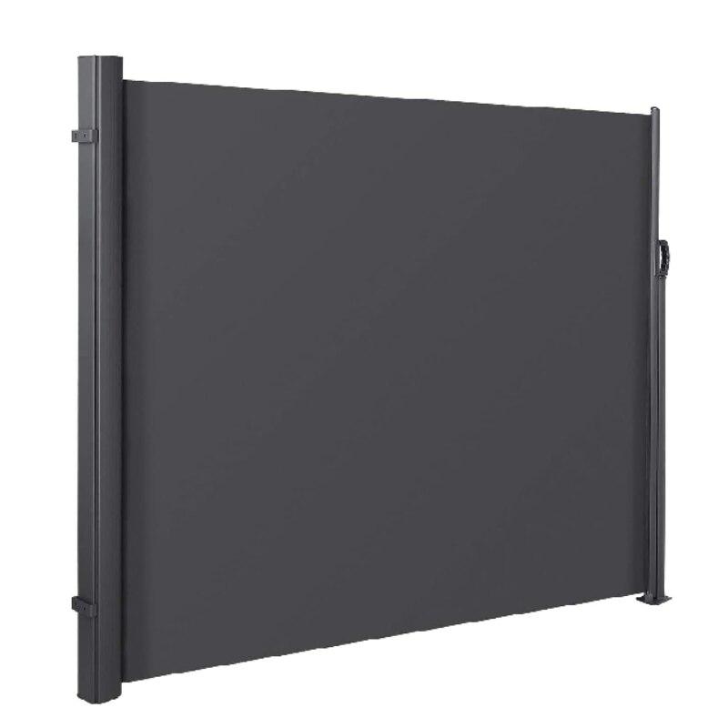 3X1.8m قابل للسحب مظلة جانبية في الهواء الطلق فناء الشاشة الخصوصية مقسم حديقة في الهواء الطلق فناء شرفة الشمس الظل الرياح الشاشة 2 ألوان