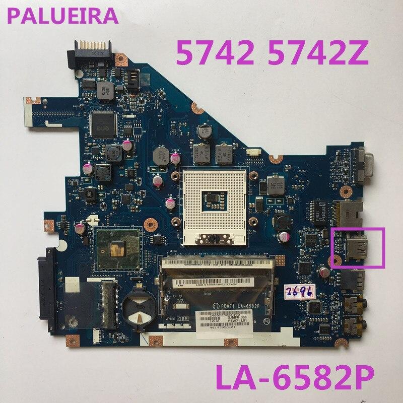 PALUBEIRA MBR4L02001 laptop Motherboard para Acer aspire 5742 5742Z PEW71 L01 LA-6582P mainboard com porta HDMI testado trabalho