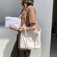 korean womens literary lazystyle one shoulder underarm bag2021new female bag korean fashion large capacity mother and child bag