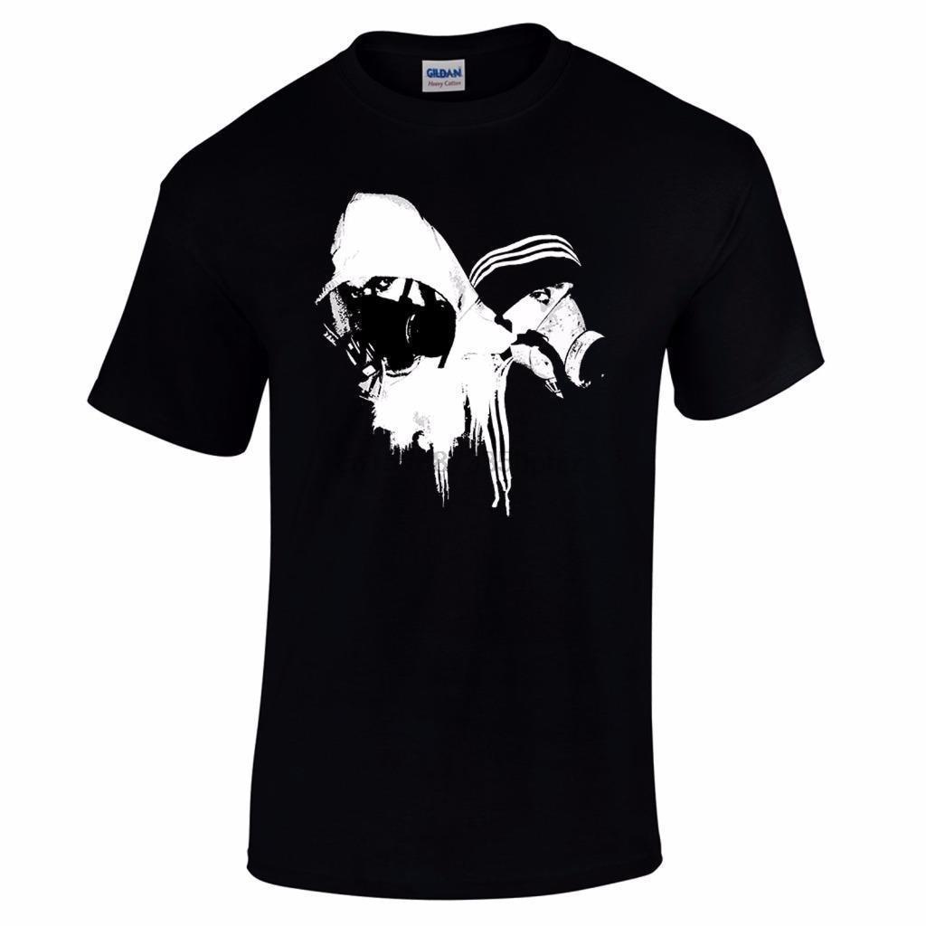 Grafiti pintores Banksy Street arte urbano Stencil Spray Can Bombers Mens camiseta de dibujos animados camiseta hombres Unisex nueva camiseta de moda