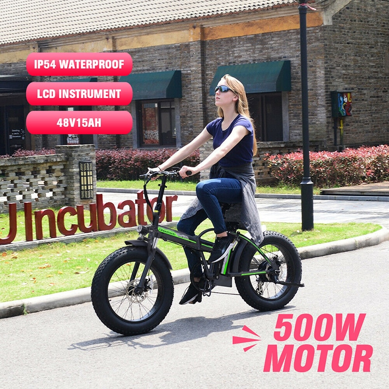 500w Electric Bike 20 Inch Motorcycle 48v Folding Bicycle  Mountain Ebike Cycling  Snow Fat Tire