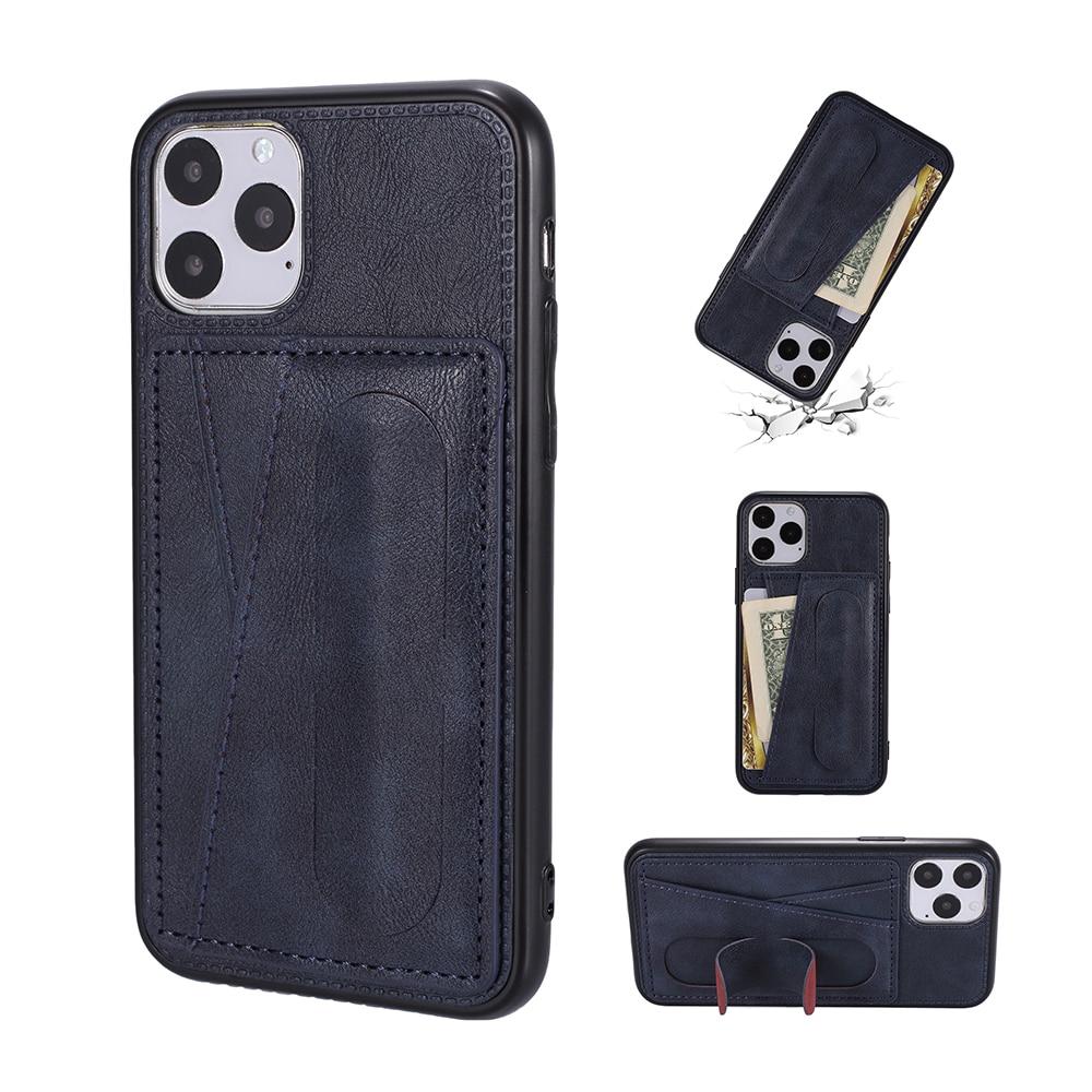 Para iphone 11 11pro max iphone x xr xs max 6 7 8 plus Premium de cuero de la carpeta del teléfono caso de la tarjeta de almacenamiento