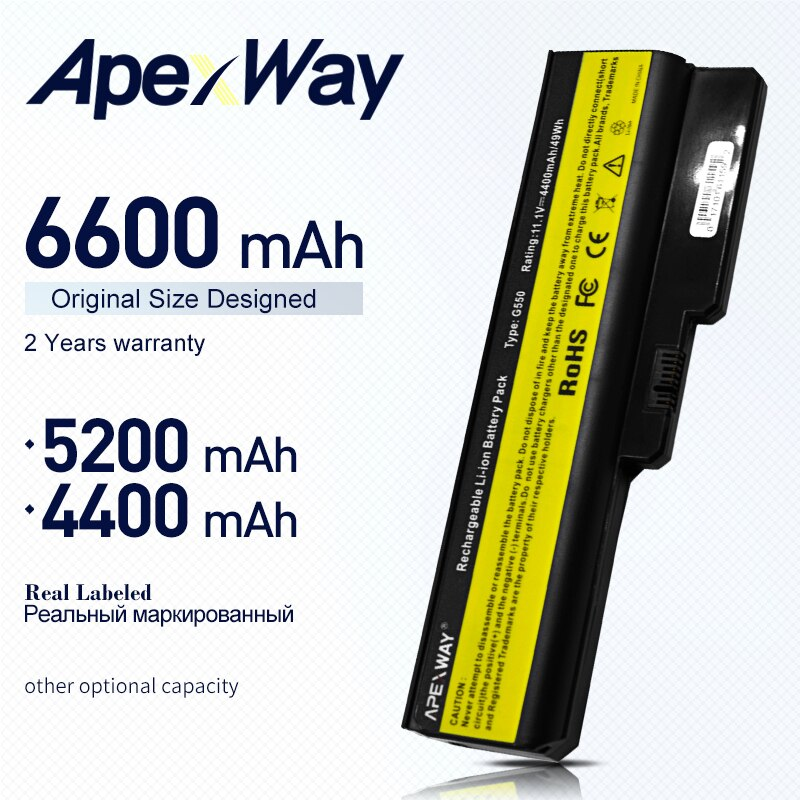 ApexWay batterie Für Lenovo 3000 B460 B550 G430 G430A G430L G430M G450 G450 G450A G450M G455 G530 G530A G530M G550 g555 N500