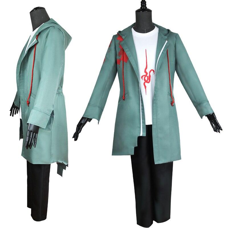 Anime Super Dangan Ronpa 2 DanganRonpa Nagito Komaeda Jacket Coat Halloween Cosplay Costume For Men T Shirt +Jacket +Pants coslive new version bane jacket coat batman the dark knight rises cosplay costume for men adult