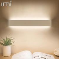 Светодиодный ная светодиодная настенная лампа, комнатный минималистичный светильник для спальни, лестницы, прикроватного столика, гостино...
