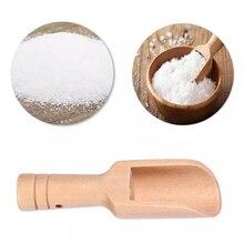 Cuchara pequeña de madera para especias, hierbas, arroz, sal, azúcar, café, té, herramienta de cocina para baño, sal, caramelo, harina, utensilio de cocina
