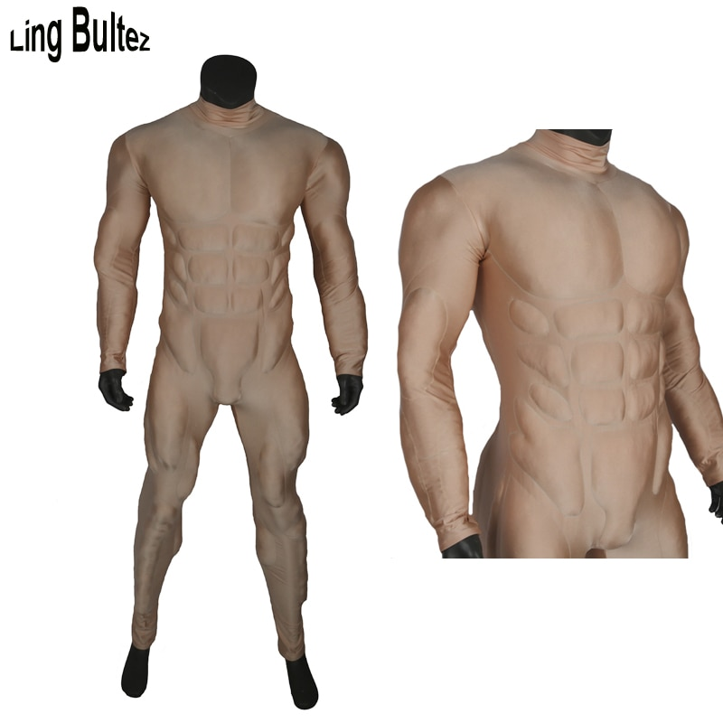 Ling Bultez-زي أساسي للعضلات مع حشوة ، زي تنكري عالي الجودة