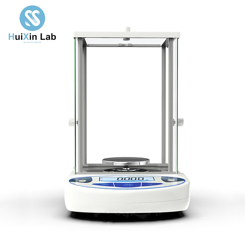 0.001g عالية الدقة مختبر التحليلي وزنها ميزان إلكتروني مع غطاء زجاجي