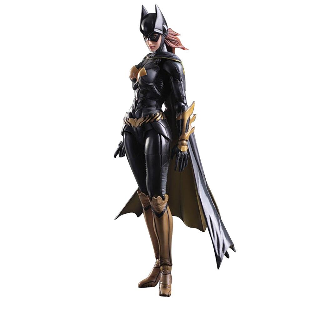 DC Batman Action Figur Play Arts Serie Modell Arkham Knight Batgirl Anime 27cm PVC Sammlung Spielzeug KO Figma Brinquedos geschenk