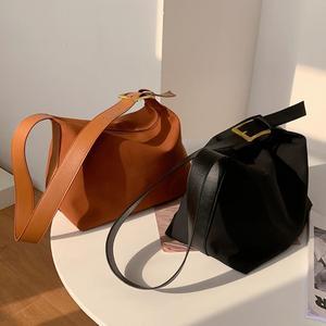 Vintage Large Armpit bag 2021 New High-quality Matte PU Leather Women's Designer Handbag High capacity Shoulder Messenger Bag