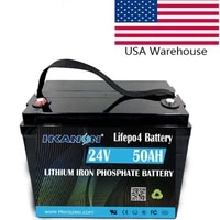 rechargeable lifepo4 24v 50ah lithium ion deep cycle battery great for bass boats trolling motors lift gates floor sweepers