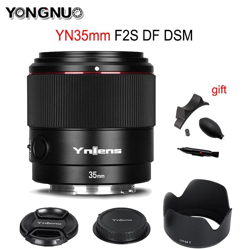 Yongnuo YN35mm F2S DF DSM عدسة 35 مللي متر F2 AF/MF وضع التركيز فتحة كبيرة عدسة الكاميرا لسوني E جبل كامل الإطار ميرورليس كاميرا