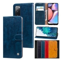 solid color leaher case for samsung galaxy s21 ultra s20 fe s10 s9 plus note 10 fundas flip wallet card solt stand phone cover