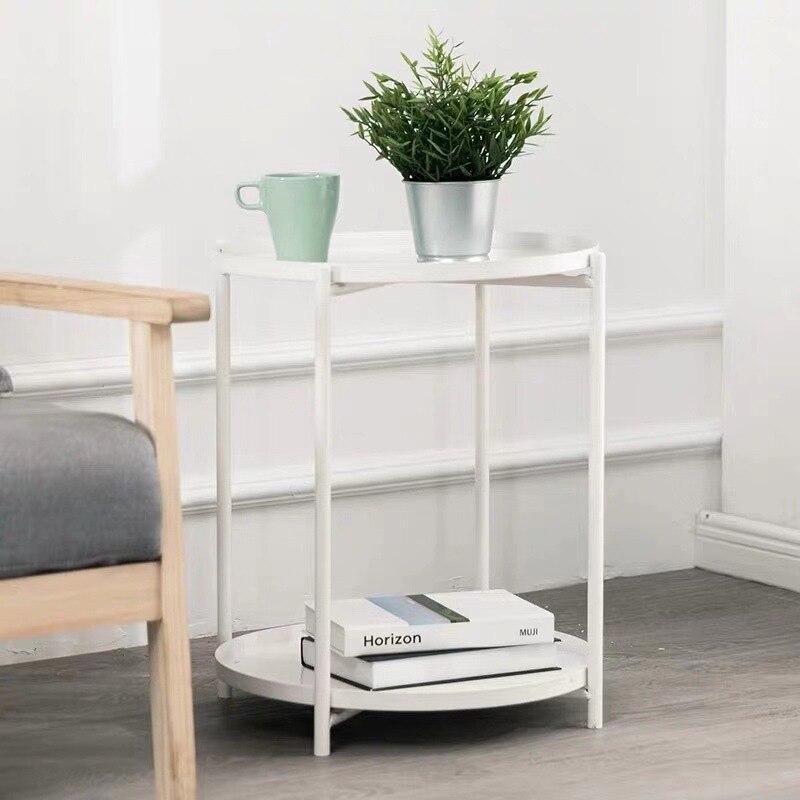 Скандинавский железный светильник, роскошный прикроватный журнальный столик, простой боковой столик для спальни, угловой мини-столик для б...