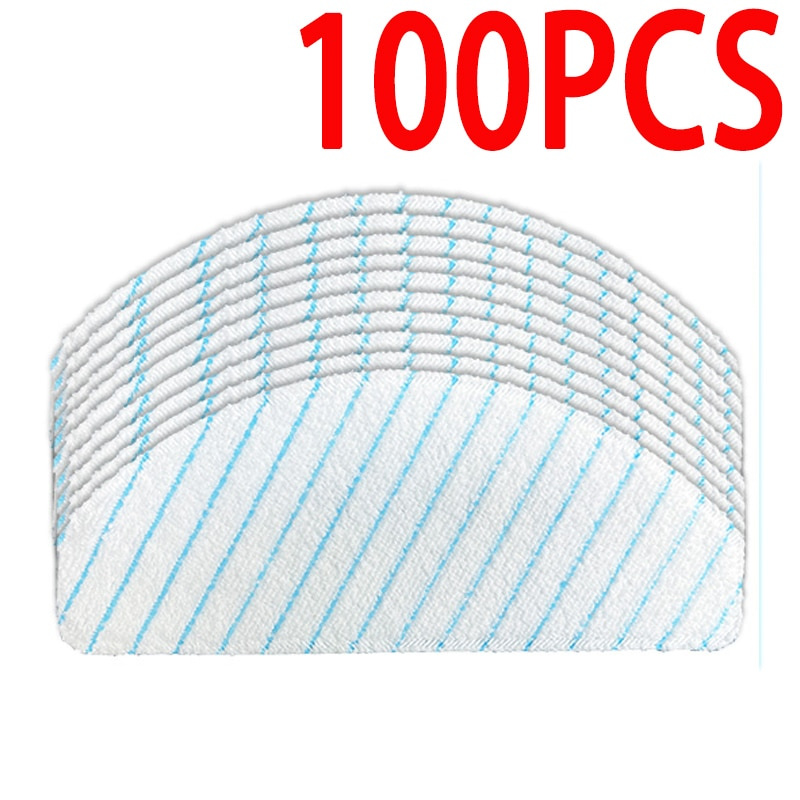 100 Pack Disposable Mop Pads for Ecovacs Deebot Ozmo T8 AIVI T9 AIVI Robot Vacuum Cleaner Accessories