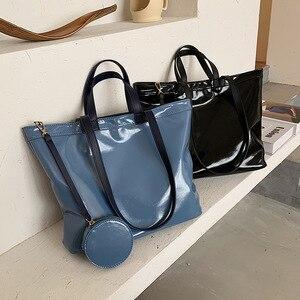 Big Bag For Woman 2020 New Trendy Large Capacity Women Purses And Handbags Set Fashion Tote Bag OL Handbag For Woman Office Bags