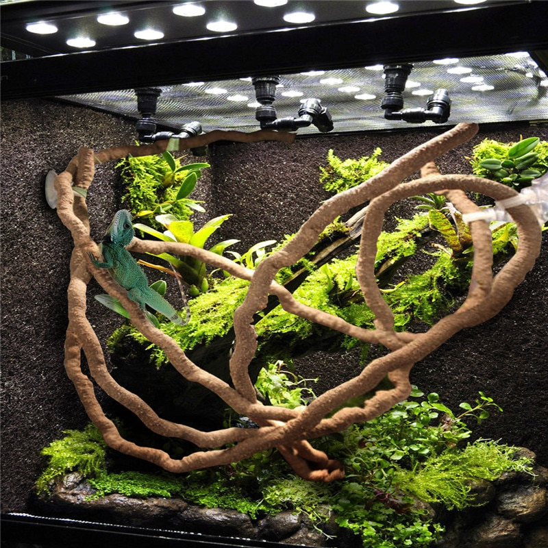 1.5/2.5/3m Large Flexible Vines Habitat Decor Bendable Jungle Climber Reptile Pet Supplies Reptiles