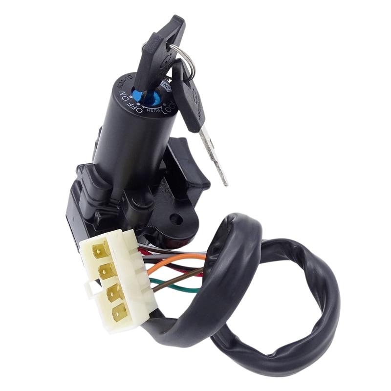 1 Juego de interruptor de bloqueo de ignición con 2 llaves para Yamaha YZF-R6 YZFR6 YZF R6 2003 de 2004, 2005 03 04 05 accesorios de la motocicleta