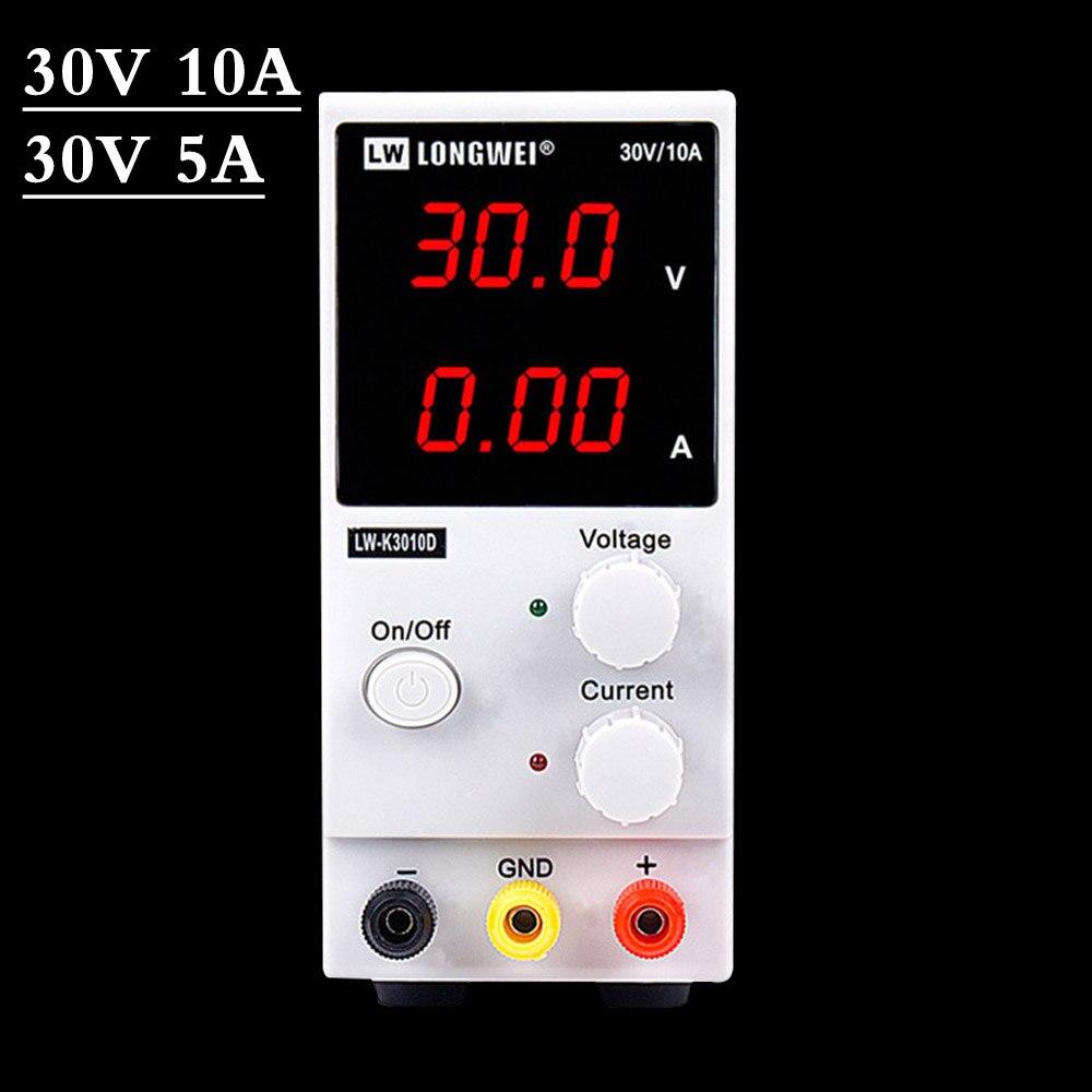 Guce LED Digital Switching DC Power Supply 30V 10A Voltage Regulators Lab Repair Tool Adjustable LW-K3010D 110/220V Power Source
