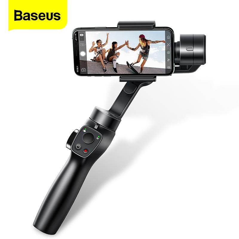 Get Baseus 3 Axis Handheld Gimbal Stabilizer Smartphone Selfie Stick for iPhone 11 Pro Max Samsung Xiaomi Vlog Mobile Phone Gimbals