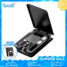 BUDI official Multi-function Smart Adapter Card Storage Data Cable USB Box Card Reade Universal Wire