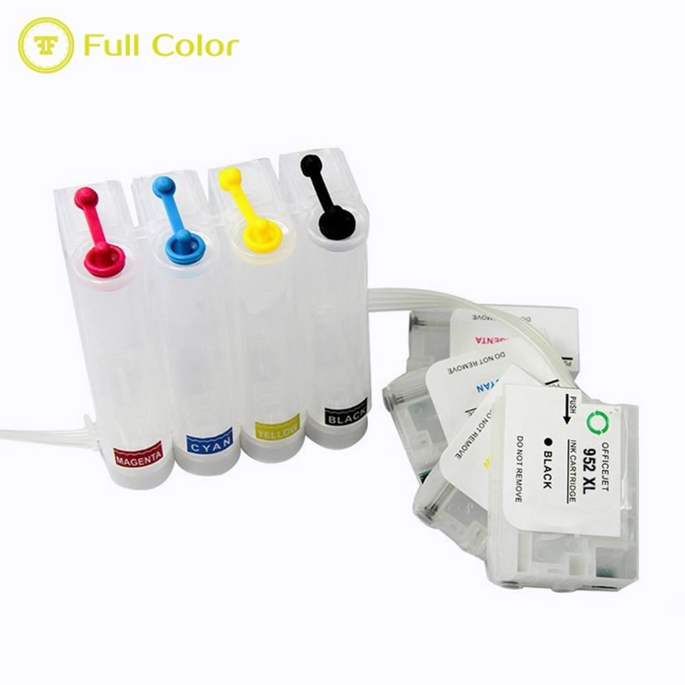 FULLCOLOR premium calidad vacío rellenable ciss 952xl 953xl 954xl 955xl con chip de reinicio automático ARC para impresora hp OfficeJet Pro