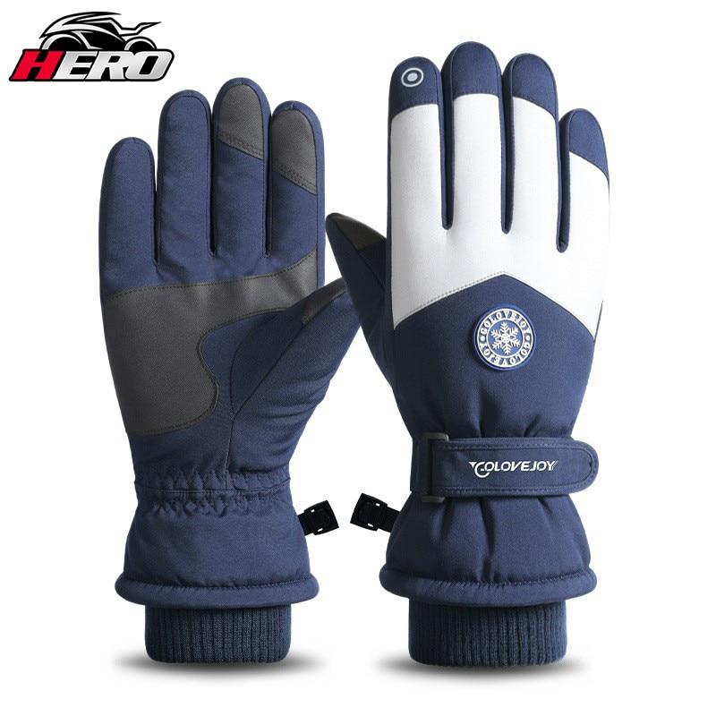 Зимние перчатки, теплые лыжные перчатки для мужчин и женщин, флисовые теплые перчатки для сноуборда и лыж, водонепроницаемые лыжные перчатк...