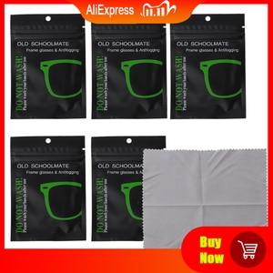 5 шт., многоразовые салфетки от запотевания для очков