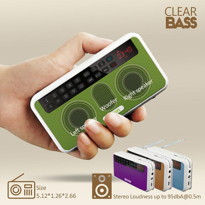 BEESCLOVER altavoces Bluetooth Estéreo portátiles Radio FM bajo claro altavoz de doble pista TF tarjeta USB reproductor de música Rolton E500 r60