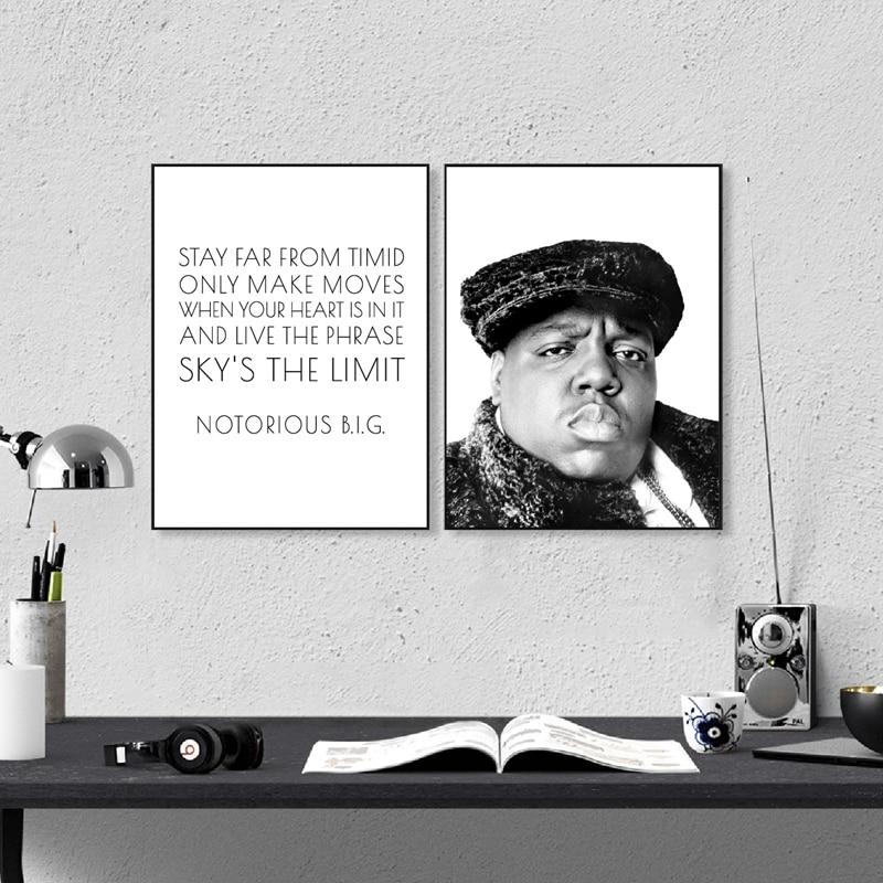 Toile peinture les notoires grandes affiches et impressions hip Hop textes citations rappeur maison mur Art décoration