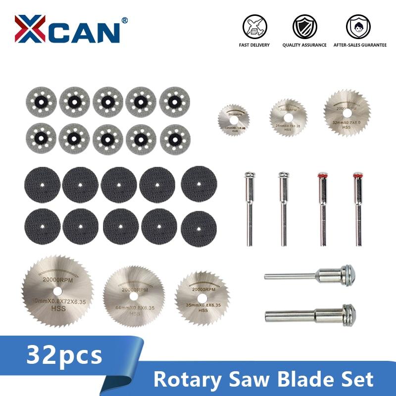 Xcan diamante revestido lâmina de serra 32 pces hss mini lâmina de serra disco de corte de metal