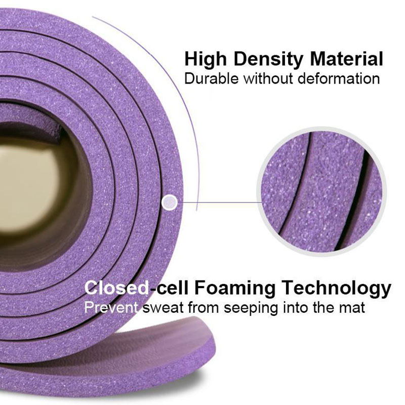 Купить с кэшбэком 1830*610mm NBR and EVA Environmental Sports Yoga Mat For Beginner Non Slip Massage Mat Solid Color Exercise Gym Mat for Fitness