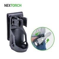 nextorch v5 tactical flashlight holster 360 degree angle rotation locking system flashlight pouch suit for 1 1 25 flashlight