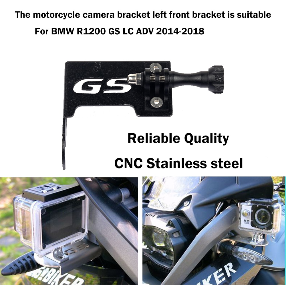Motorcycle Camera Bracket  Front CAM Support Go Pro Holder For BMW R1200GS Adventure R1200GSA R1200 R 1200 GS/Adv GS1200 LC