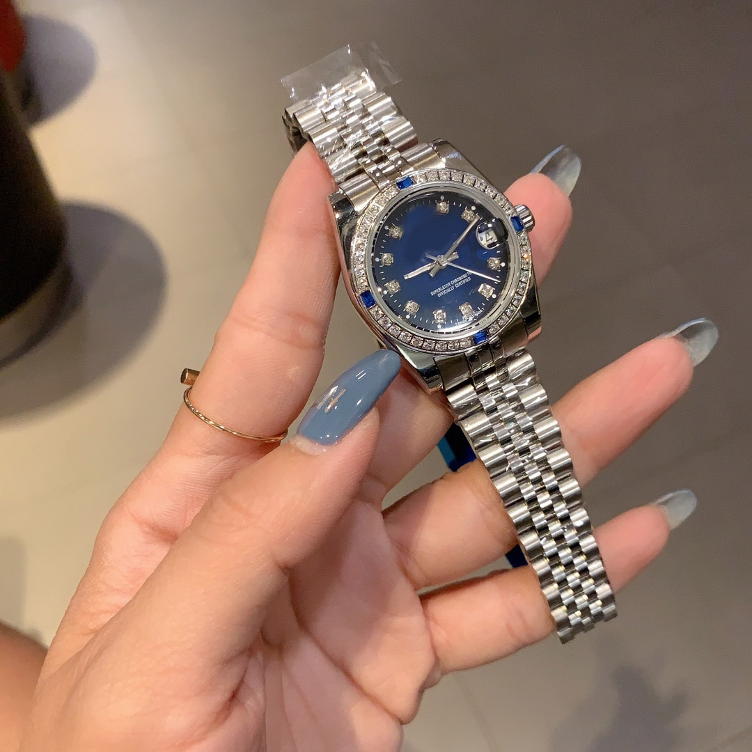 High-end replica hot sale non-mechanical ladies watch luxury watch fashion simple trend classic style steel girl quartz watch enlarge