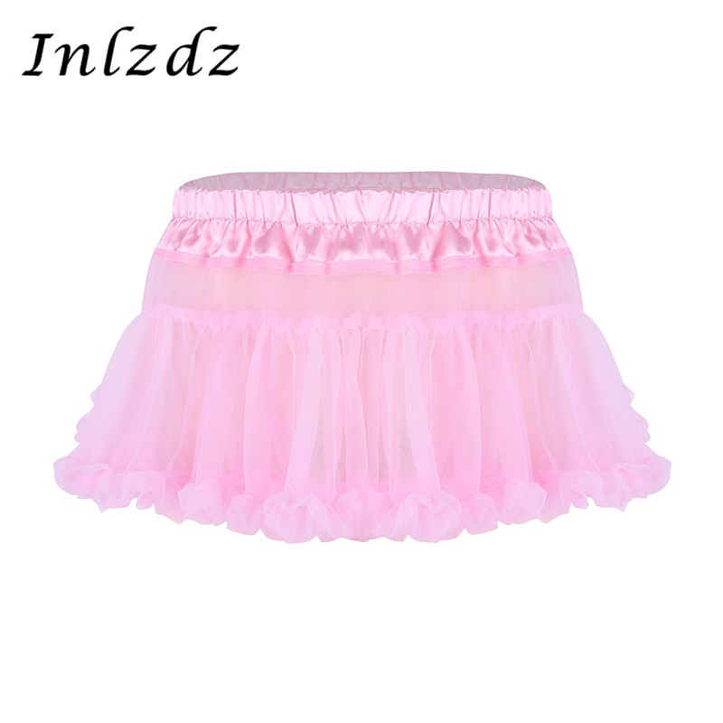 Hombres Crossdresser Sissy Mini falda bragas para sexo exótico Gay ropa interior Babydoll Lencería transparente ropa interior Sissy Mini faldas