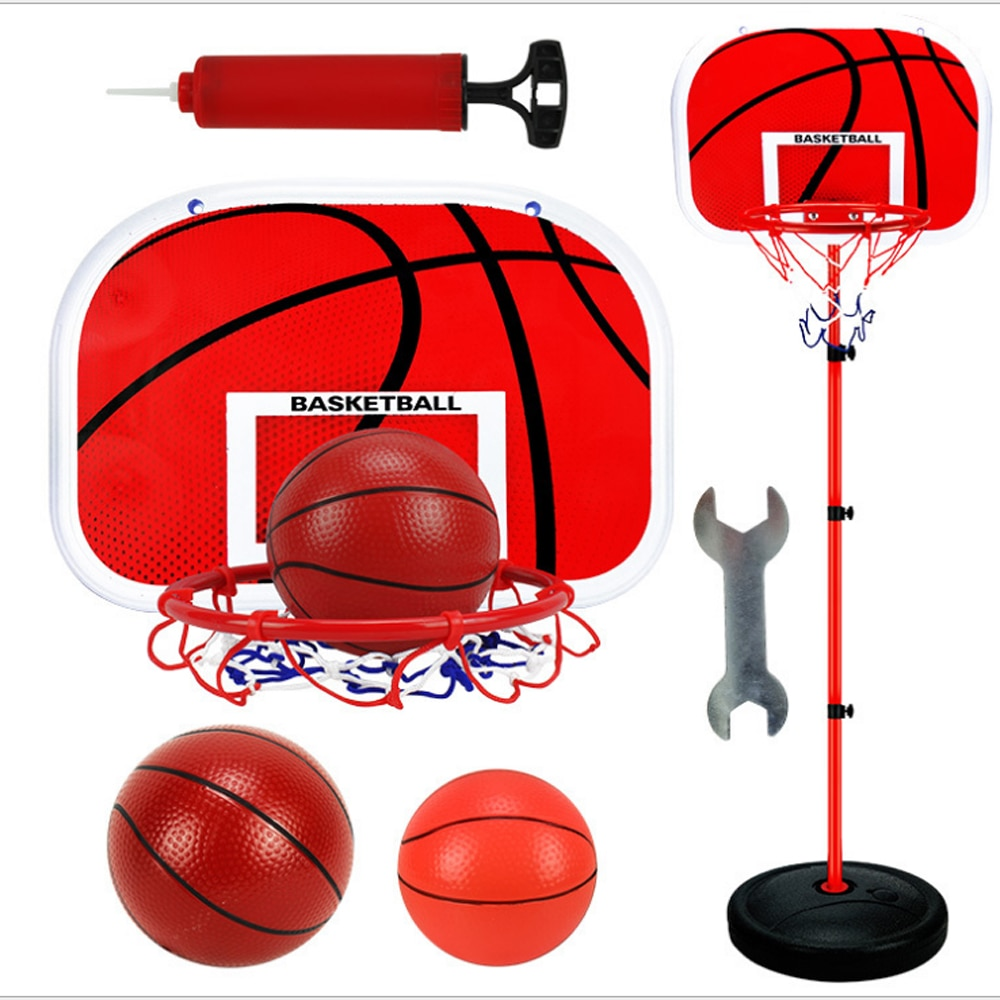 150CM basketball stand outdoor indoor sports iron pole basketball frame shooting stand children can lift basketball stand adjustable kids basketball stand hoop indoor outdoor shooting toy with metal pole